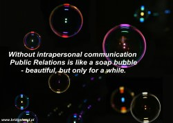 soap bubble and PR